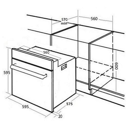 Электрический духовой шкаф MONSHER MOE 6291 B