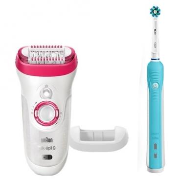 Эпилятор Braun 9-521 Silk-epil 9 + OralB PRO 500