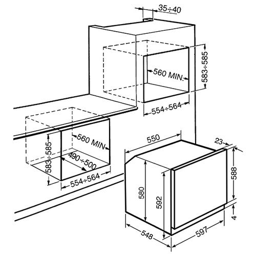 Электрический духовой шкаф smeg SFP6604PNXE