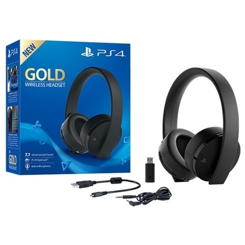 Sony Гарнитура беспроводная черная Gold для PS4 (CUHYA-0080) + ваучер Fortnite Neo Versa Bundle