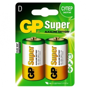 Батарейка GP Super Alkaline D