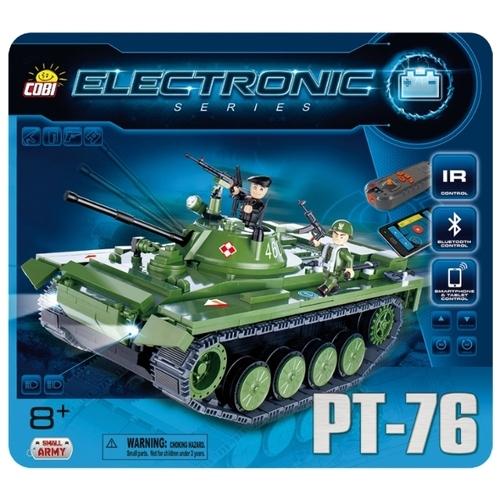 Электромеханический конструктор Cobi Electronic 21906 Танк PT-76