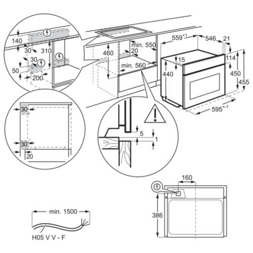 Электрический духовой шкаф Electrolux KVLAE00WT
