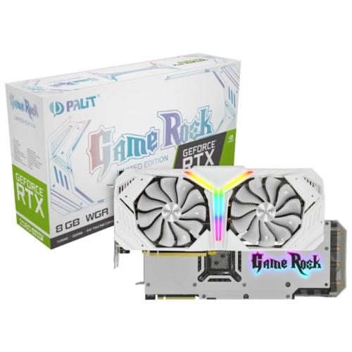 Видеокарта Palit GeForce RTX 2080 SUPER 1650MHz PCI-E 3.0 8192MB 15500MHz 256 bit HDMI 3xDisplayPort HDCP White GameRock