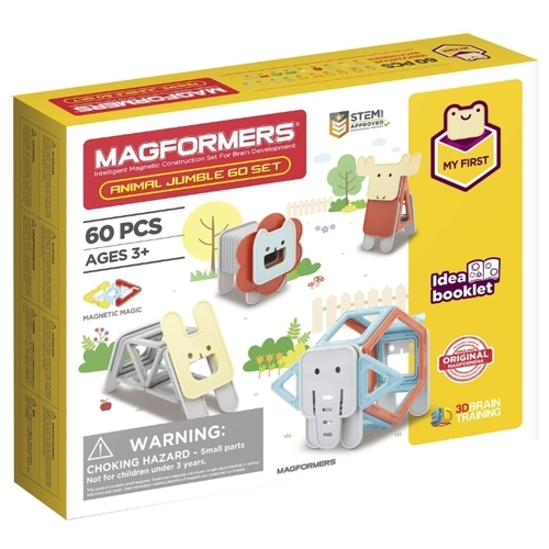 Магнитный конструктор Magformers My First 702015-60 Веселые зверюшки