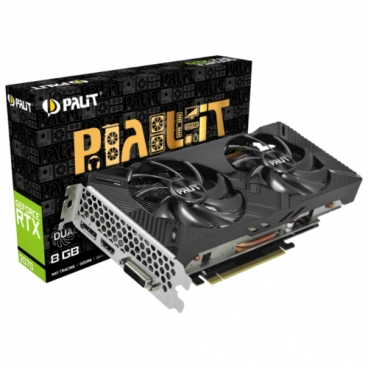 Видеокарта Palit GeForce RTX 2070 1410MHz PCI-E 3.0 8192MB 14000MHz 256 bit DVI DisplayPort HDMI HDCP Dual