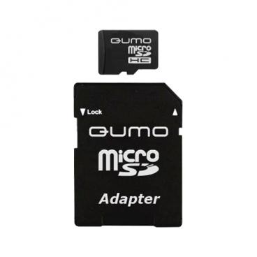 Карта памяти Qumo microSDHC class 6 + SD adapter