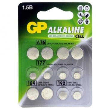 Батарейка GP Набор Alkaline Cell LR44, LR41, LR626, LR54