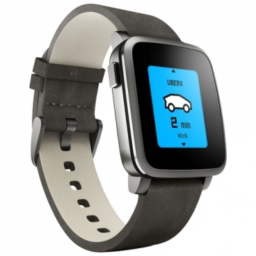 Часы Pebble Time Steel (leather)