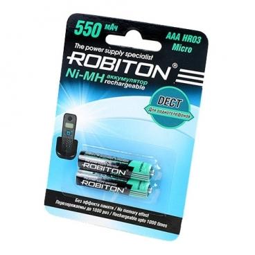 Аккумулятор Ni-Mh 550 мА·ч ROBITON DECT AAA HR03 Micro 550