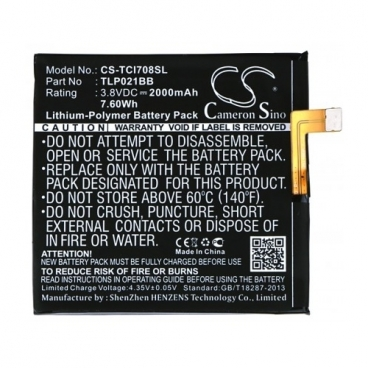 Аккумулятор Cameron Sino CS-TCI708SL для TCL I708U, I709M