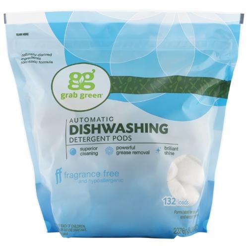 GrabGreen порошок (без запаха) для посудомоечной машины