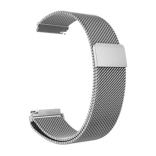 GSMIN Ремешок металлический Milanese Loop для Samsung Gear S3 Frontier/Classic/Galaxy Watch (46 mm)