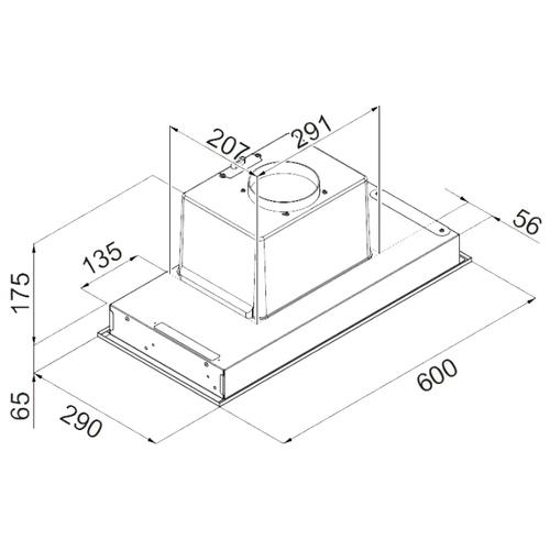 Встраиваемая вытяжка Ciarko Cub 60 Inox