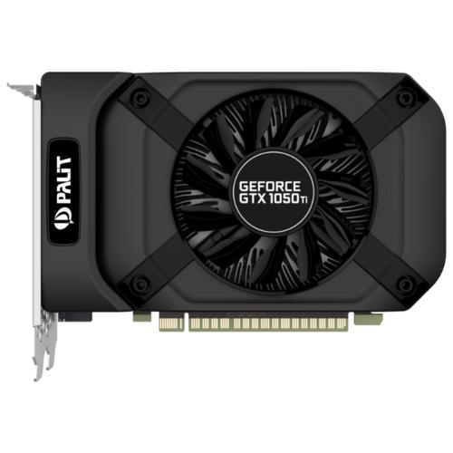 Видеокарта Palit GeForce GTX 1050 Ti 1290MHz PCI-E 3.0 4096MB 7000MHz 128 bit DVI HDMI DisplayPort HDCP StormX (NE5105T018G1-1076F)