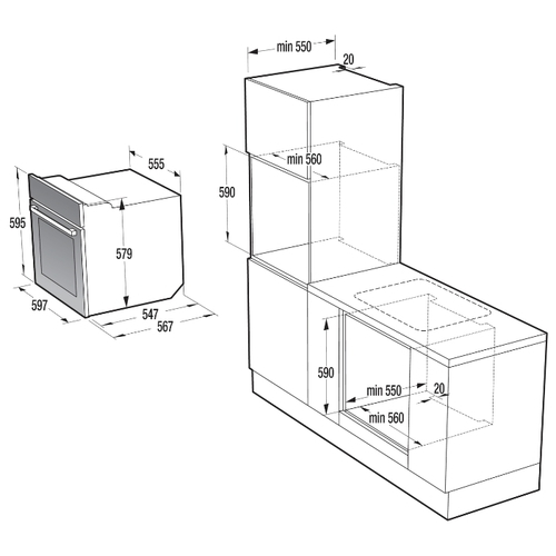 Электрический духовой шкаф Gorenje BO 658A34 WG