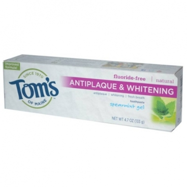 Зубная паста Tom's of Maine Antiplaque & Whitening гелевая Курчавая мята