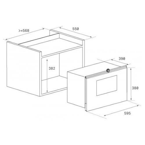 Микроволновая печь встраиваемая TEKA ML 825 TFL (40590640)
