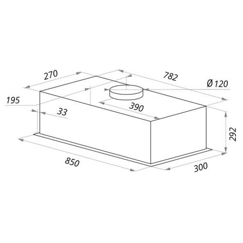 Встраиваемая вытяжка MAUNFELD Crosby Push (2m) 90 нержавейка
