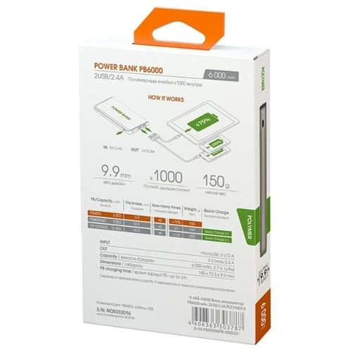 Аккумулятор INTERSTEP PB6000