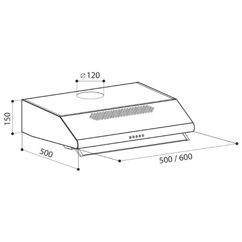 Подвесная вытяжка LEX Simple 600 White