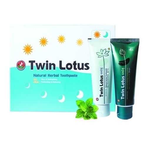 Набор зубных паст Twin Lotus Дневная + Ночная