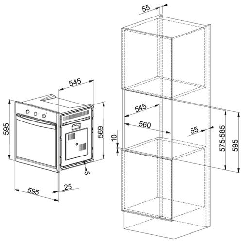 Электрический духовой шкаф FRANKE SGP 62 M BK/F
