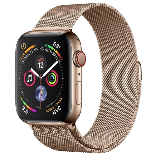 Часы Apple Watch Series 4 GPS + Cellular 44mm Stainless Steel Case with Milanese Loop