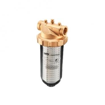 Фильтр механической очистки oventrop Aquanova Magnum PN 16 140 (чаша прозрачная) муфтовый (ВР/ВР), латунь