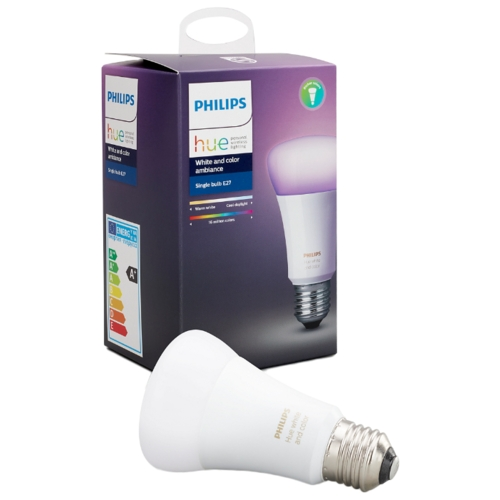 Лампа светодиодная Philips Hue White and Color, E27, A19, 10Вт