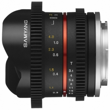 Объектив Samyang 8mm T3.1 V-DSLR UMC Fish-eye II Sony E""
