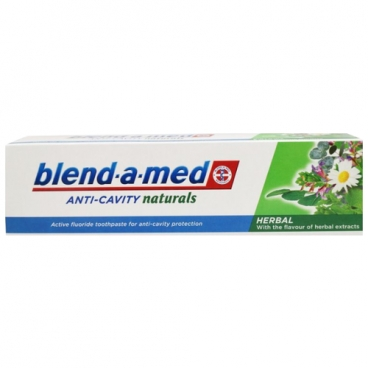 Зубная паста Blend-a-med Anti-Cavity Herbal Natural