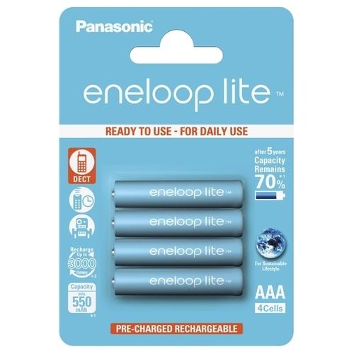 Аккумулятор Ni-Mh 550 мА·ч Panasonic eneloop lite AAA