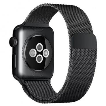 Karmaso Ремешок для Apple Watch 38 мм миланская петля черный