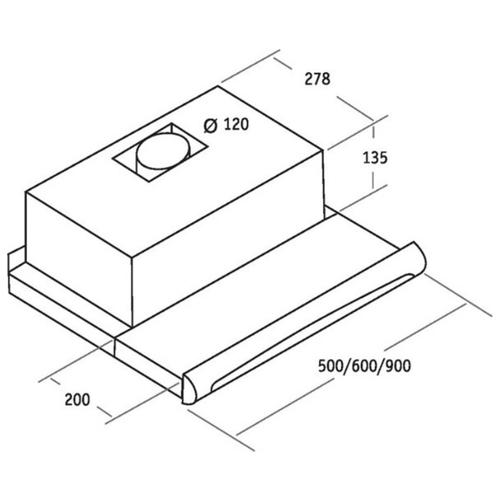 Встраиваемая вытяжка CATA TF-5250 X /A