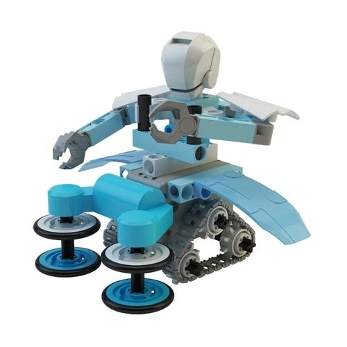 Электромеханический конструктор Gigo Smart Bricks 7416 Футбот-робот Шеф