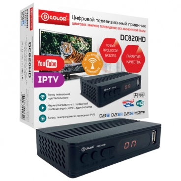 TV-тюнер D-COLOR DC820HD