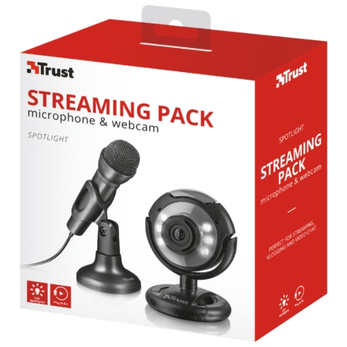 Веб-камера Trust Spotlight Streaming Pack