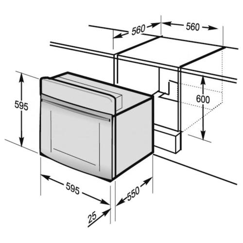 Электрический духовой шкаф Hansa BOEI64190055