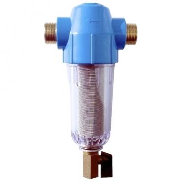 Фильтр механической очистки Гейзер Хит 32695 муфтовый (НР/НР), ПВХ, со сливом