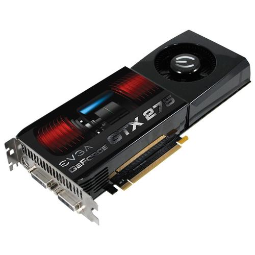 Видеокарта EVGA GeForce GTX 275 633Mhz PCI-E 2.0 896Mb 2268Mhz 448 bit 2xDVI TV HDCP YPrPb