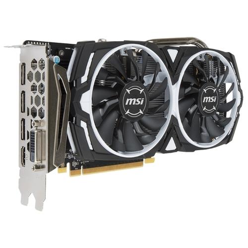 Видеокарта MSI Radeon RX 570 1268MHz PCI-E 3.0 8192MB 7000MHz 256 bit DVI HDMI HDCP Armor OC