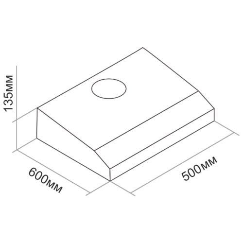 Подвесная вытяжка DARINA FLAP 501 X