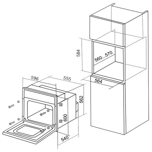 Электрический духовой шкаф Electronicsdeluxe 6006.04эшв-020