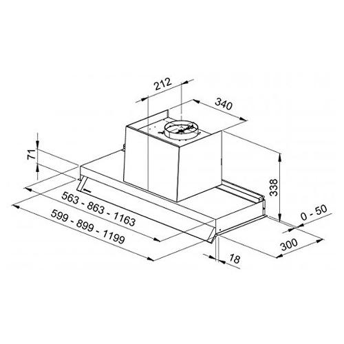 Встраиваемая вытяжка GALVAMET OPTIMA 60/A/IX
