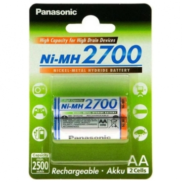 Аккумулятор Ni-Mh 2700 мА·ч Panasonic Rechargeable Accu AA