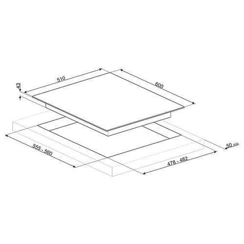 Варочная панель smeg PX364L