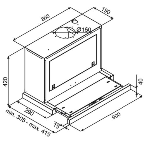 Встраиваемая вытяжка Kuppersberg SLIMBOX 90 X