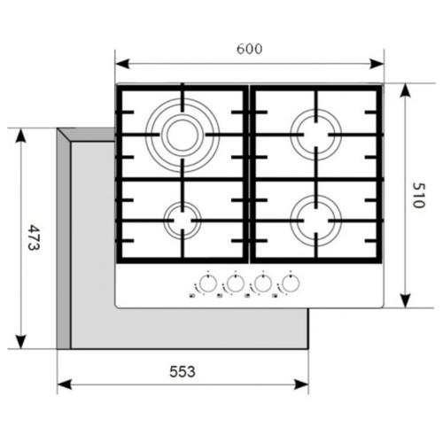 Варочная панель AKPO PGA 604 SGC-T WH