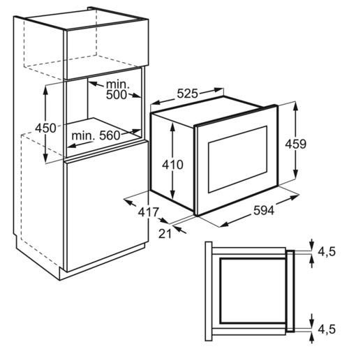 Микроволновая печь встраиваемая Electrolux KMFE 264 TEX